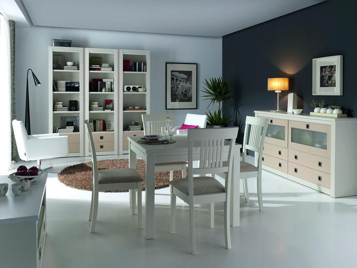 Comedor Blanco Mesa Extensible - Muebles Avalos