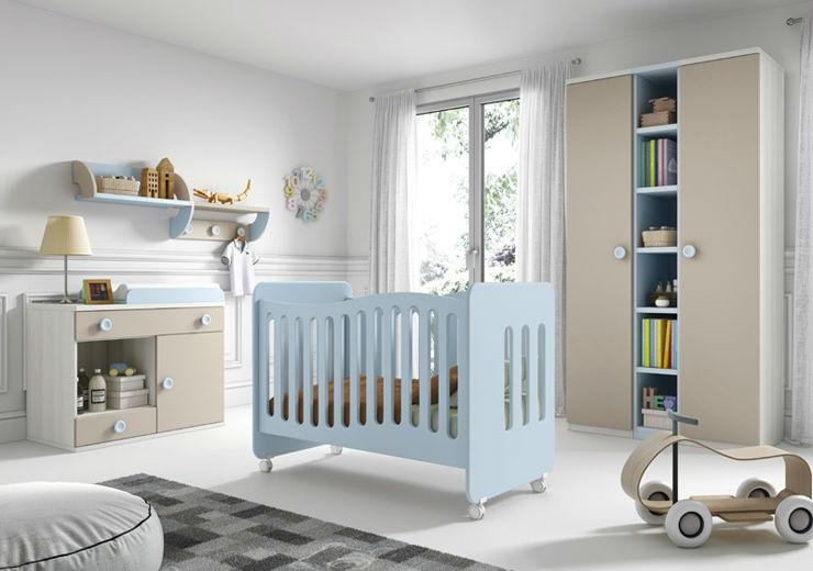 Infantil Azul, Madera y Beige