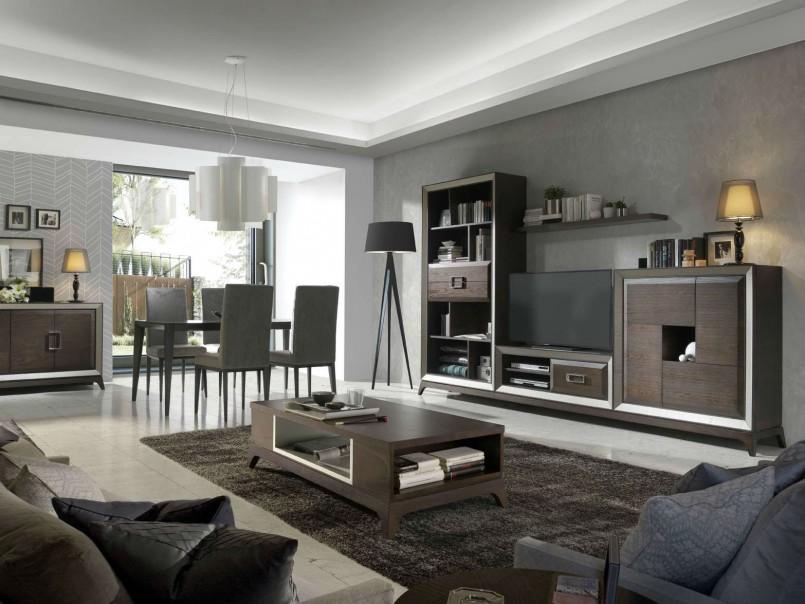 Salon Madera Diseno Lineal Muebles Avalos - Salon-madera
