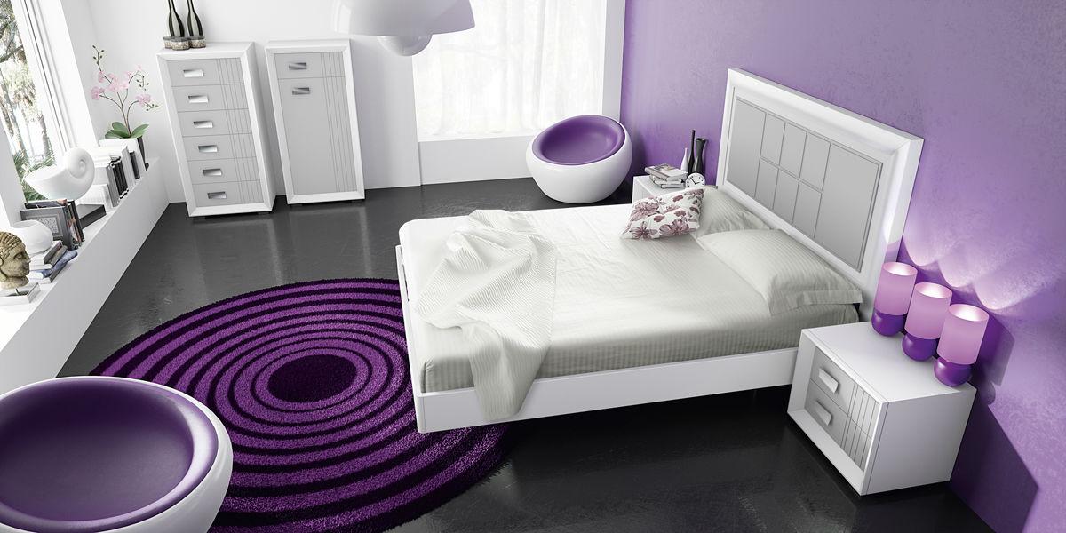 Dormitorio Blanco y Plata Diseño Lineal