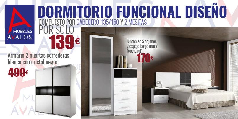 Dormitorio blanco y negro muebles avalos - Dormitorios blanco y negro ...