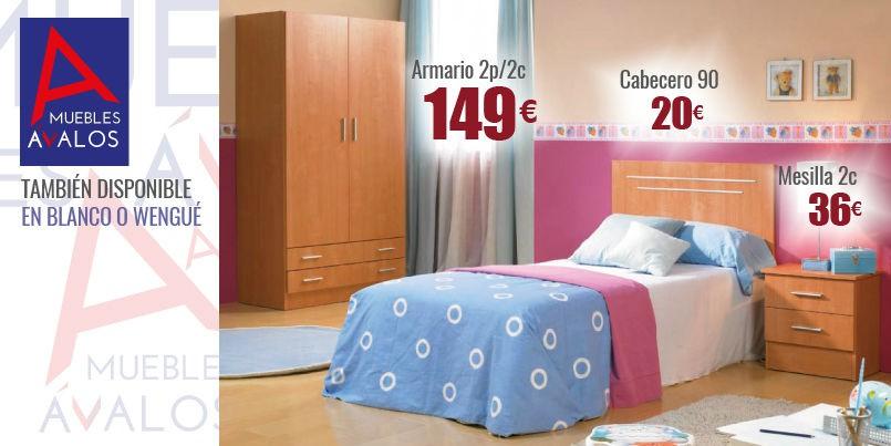 Habitaci n juvenil econ mica almer a muebles valos - Precio habitacion juvenil ...
