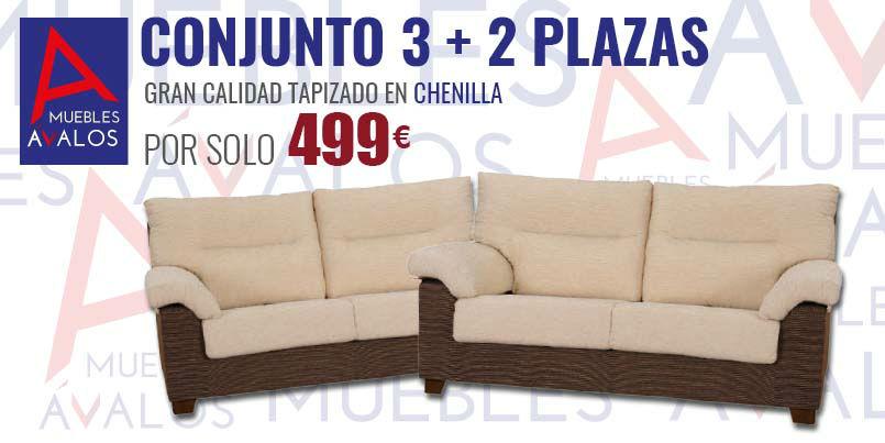 Conjunto sof s econ micos muebles avalos for Muebles nuevos economicos