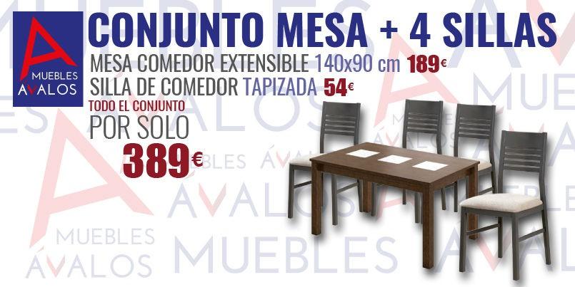 Mesas y sillas de comedor muebles avalos for Sillas de comedor 2016