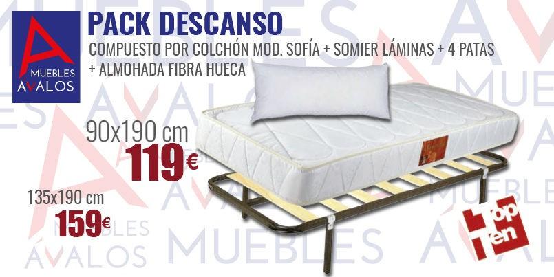 Equipo de descanso, Oferta Almería, Colchón+Somier+Almohada