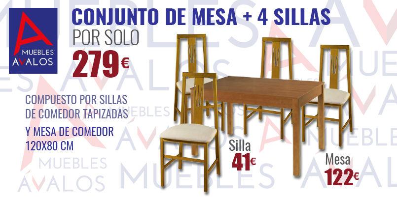 Mesa de comedor econ mica muebles avalos for Mesa comedor economica