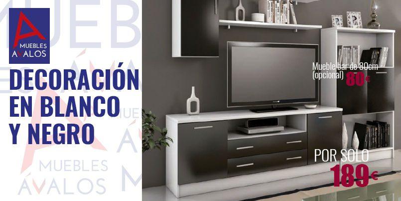 Decorar salones, Apilable blanco negro, Tienda de muebles Almería