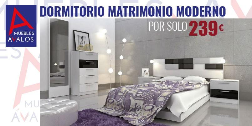 Dormitorio econ mico almer a blanco negro plata s lo - Dormitorios blanco y negro ...