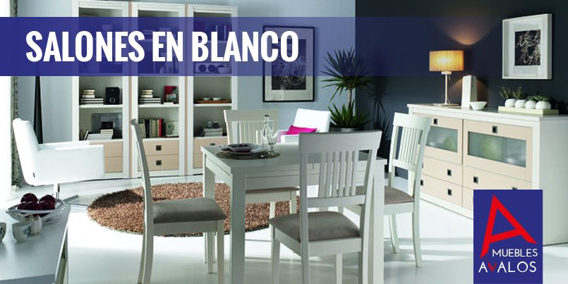 Salones en blanco luminosidad amplitud muebles valos - Salones en blanco ...