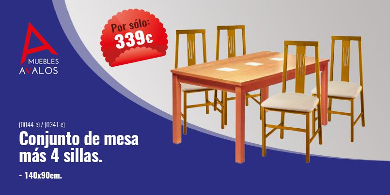 Conjunto de mesas y sillas archivos muebles avalos - Conjunto de mesa y sillas de comedor ...