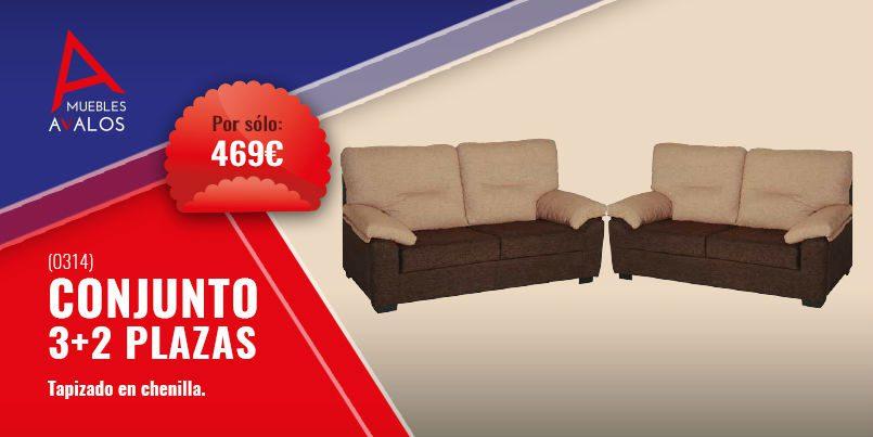 Conjunto de sof s baratos 3 2 por s lo 469 tienda de muebles almer a - Muebles baratos almeria ...