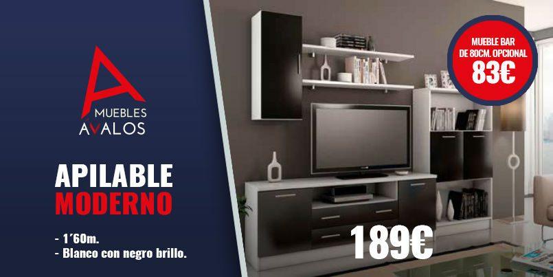 Mueble de salón económico, Apilable moderno 189€, Tienda de muebles ...