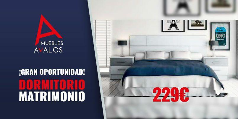 Dormitorio de matrimonio económico, Muebles Almería, Muebles ...