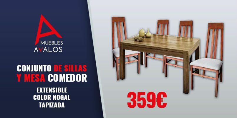 Color Mesa De Comedor TapizadasOferta NogalSillas Extensible 8w0nmN