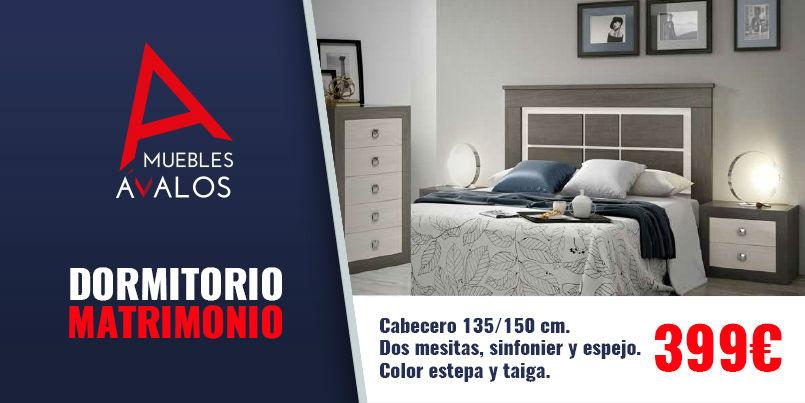 Dormitorio de matrimonio de dise o color estepa y taiga for Muebles estepa