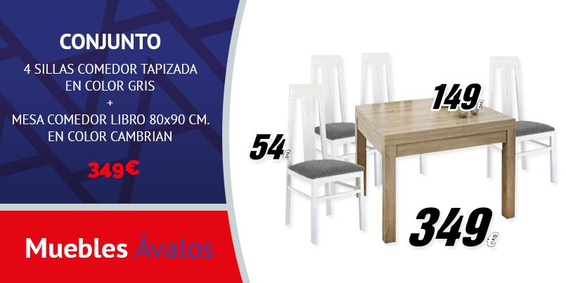 Mesa de comedor Libro + sillas